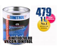 Dinitrol 479, 1 литр, жидкий локер для днища и арок, чёрный